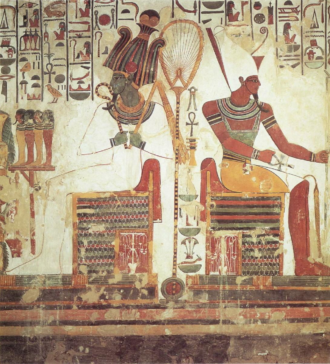 Egyptian art for Ancient egyptian mural paintings
