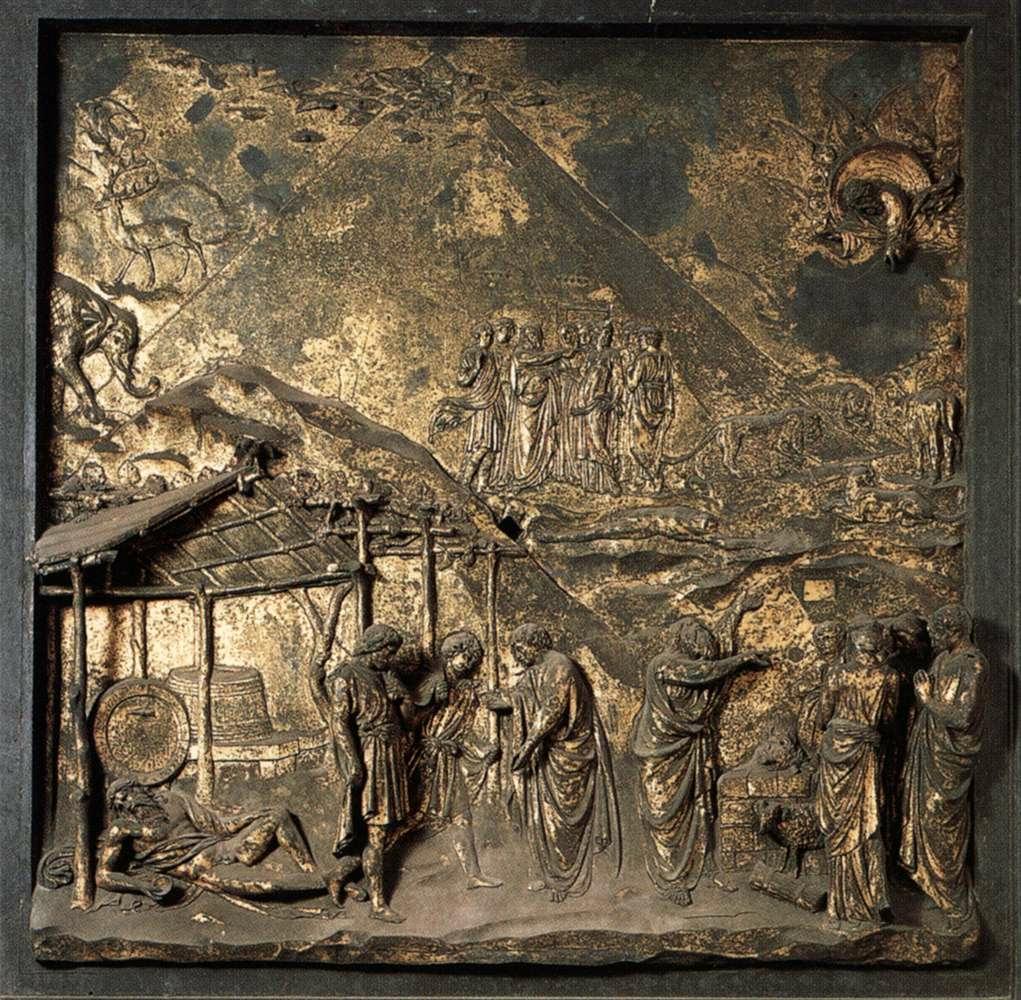 Lorenzo Ghiberti \u2013 Cain and Abel Panel Detail of the East Doors (\