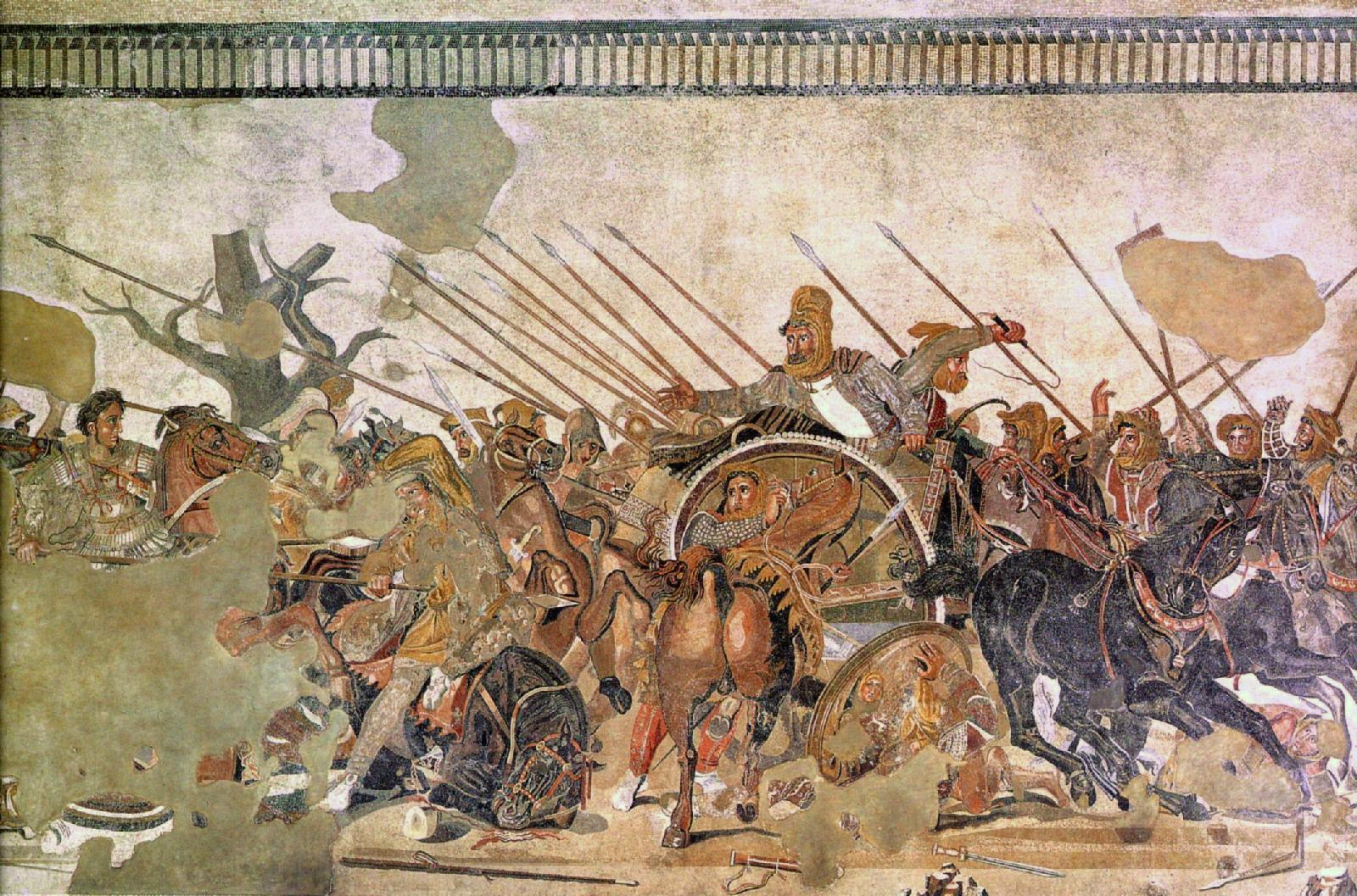 philoxenus of eretria s the battle of The alexander mosaic is thought to be based on a painting which philoxenus of eretria created for king cassander of macedonia the painting is described by pliny the elder as representing.